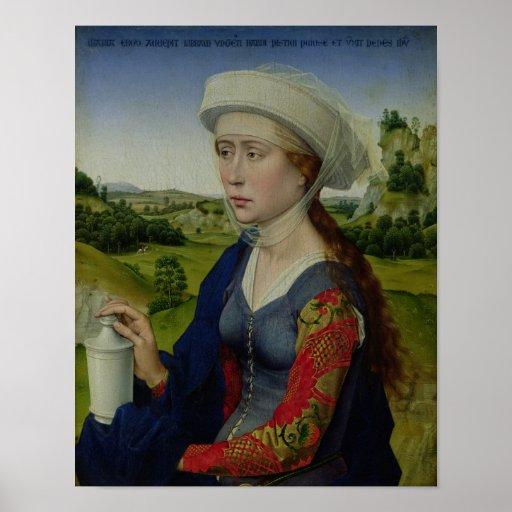 Maria Magdalena, del panel derecho Poster