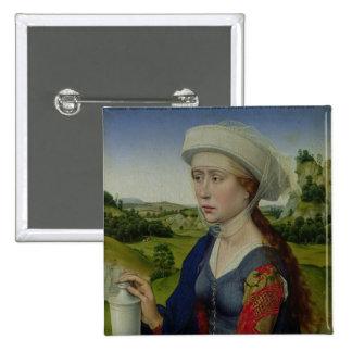 Maria Magdalena, del panel derecho Pin Cuadrada 5 Cm