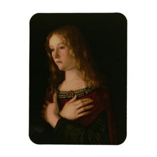 Maria Magdalena, detalle de la Virgen y del niño w Iman Rectangular