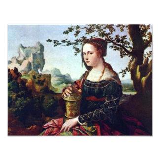 Maria Magdalena. En enero Van Scorel (la mejor Invitación 10,8 X 13,9 Cm