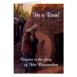 Maria Magdalena extraordinaria y la tumba vacía de Tarjeta De Felicitación