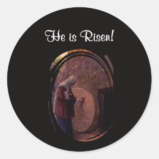 Maria Magdalena hermosa y la tumba vacía de Jesús Etiquetas Redondas