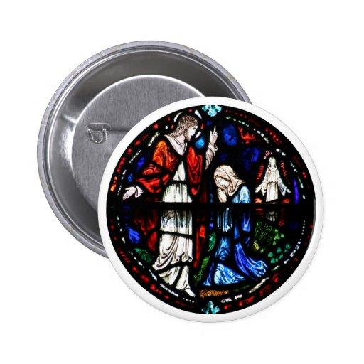 Maria Magdalena - Jesús después de la resurrección Pin Redondo 5 Cm