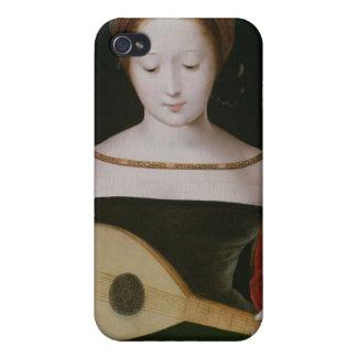Maria Magdalena que toca un laúd iPhone 4/4S Carcasas