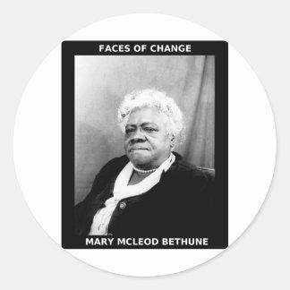 Maria McLeod Bethune Pegatina Redonda