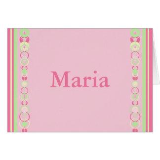 Maria Modern Circles Custom Name Card
