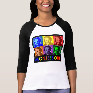 Maria Montessori Pop-Art Three-Quarter T-Shirt