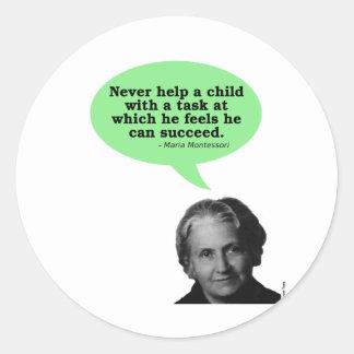 Maria Montessori Quote Classic Round Sticker