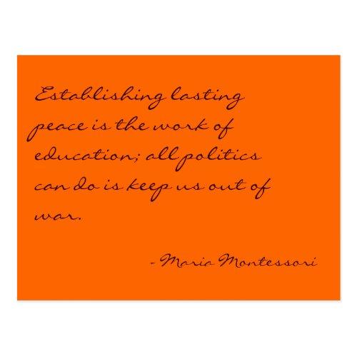 Maria Montessori Quote No 3 Post Card