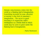 Maria Montessori Quote No. 4 Post Card