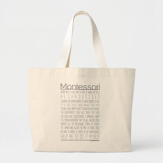 Maria Montessori Quotes Large Tote Bag