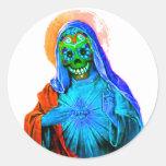 Maria muerta etiqueta