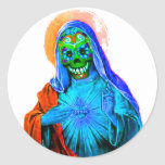 Maria muerta pegatina redonda