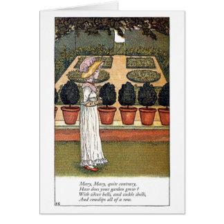 Maria muy contrariamente tarjeta de felicitación