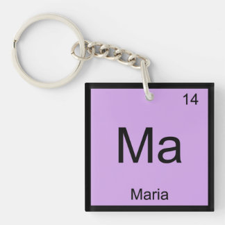 Maria Name Chemistry Element Periodic Table Keychain