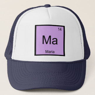 Maria Name Chemistry Element Periodic Table Trucker Hat