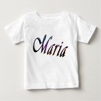 Maria, Name Logo, Baby's White T-shirt