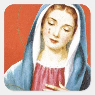 Maria Pegatina Cuadrada