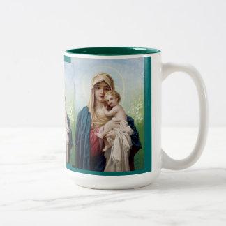 Maria que detiene a Jesús Taza De Café