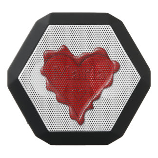 Maria. Red heart wax seal with name Maria Black Bluetooth Speaker