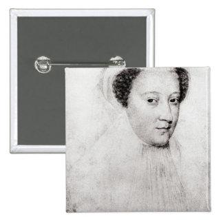 Maria, reina de escocés en el luto blanco, 1560 pin cuadrado