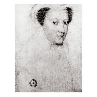 Maria, reina de escocés en el luto blanco, 1560 postales