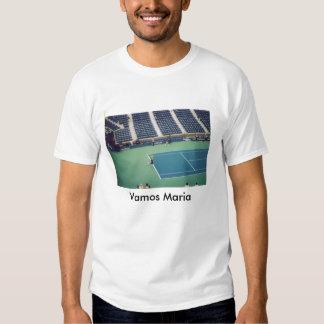Maria Sharapova in Action Tee Shirt
