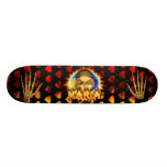 Maria skull real fire and flames skateboard design