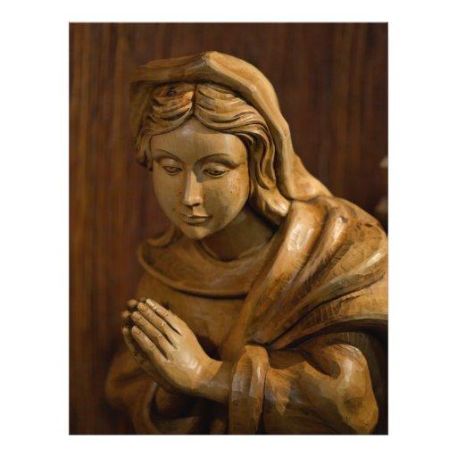 Maria talló la madera tarjeta publicitaria