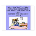 Maria tenía un pequeño cordero postal