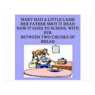 Maria tenía un pequeño cordero postales