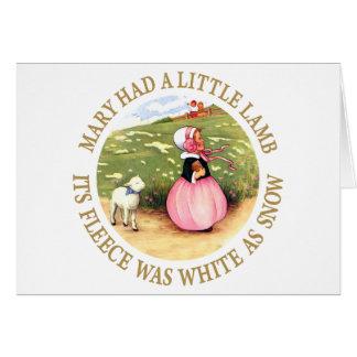 Maria tenía un pequeño cordero tarjeta de felicitación