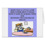 Maria tenía un pequeño cordero tarjetas