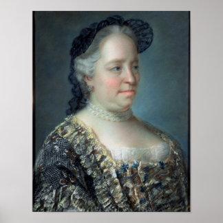 Maria Teresa, emperatriz de Austria, 1762 Poster