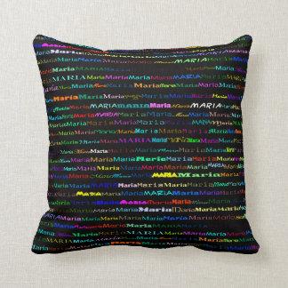 Maria Text Design I Throw Pillow