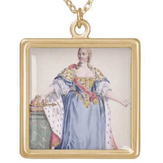 Maria Theresa (1717-80) Empress of Austria, from ' Gold Plated Necklace