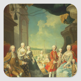 Maria Theresa and her Husband Square Sticker