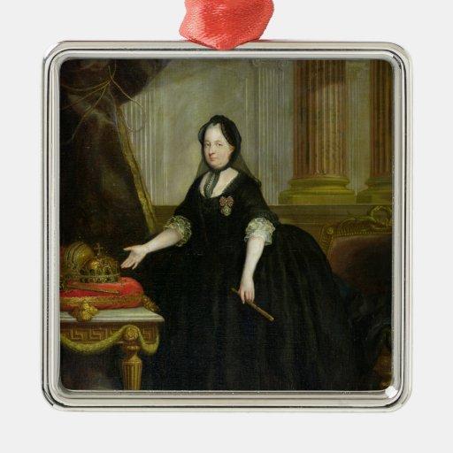 Maria Theresa  Empress of Austria Square Metal Christmas Ornament
