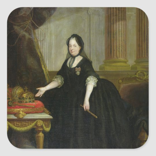 Maria Theresa  Empress of Austria Square Sticker