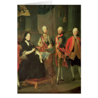 Maria Theresa of Austria  with four of her Card