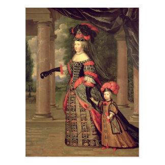 Maria Theresa  wife of Louis XIV Postcard