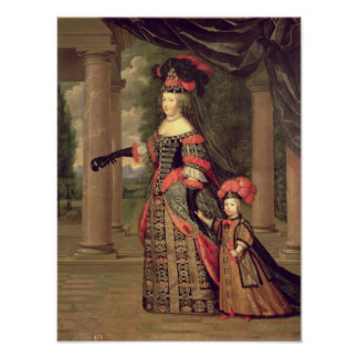 Maria Theresa  wife of Louis XIV Poster