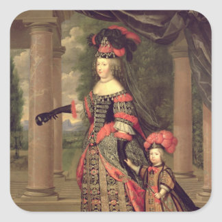 Maria Theresa  wife of Louis XIV Square Sticker