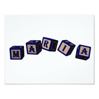 Maria toy blocks in blue card
