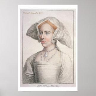 Maria Tudor (1516-58) grabado por Francisco Bartol Póster