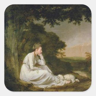 Maria, 'un Journey sentimental Pegatina Cuadrada