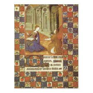 Maria visita a su primo Elizabeth, medieval Tarjetas Postales