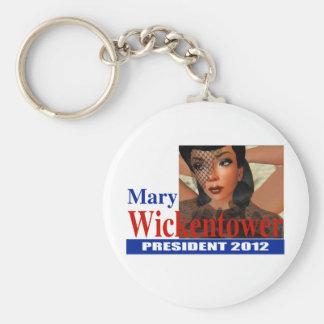 Maria Wickentower para el presidente 2012 Llavero Redondo Tipo Pin