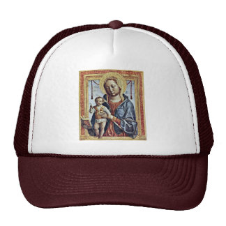 Maria With The Book And Christ Blessing Boy By Fop Trucker Hat