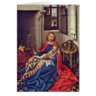 Maria With The Child On Fire By Robert Campin Cards